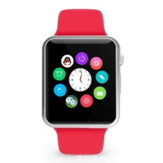 A1 Smartwatch 2016 A1 Smart Watch Bluetooth Smart Watch Waterproof Smart Watch For Iphone Android Cell phone 1.54 inch SIM Card (Red) - intl