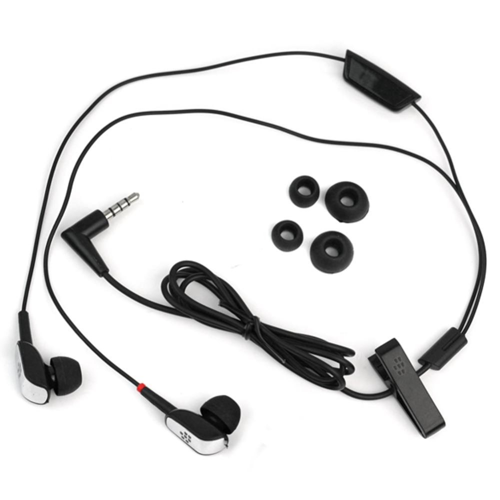 AC New Black Stereo In-Ear Headset Headphone For BlackBerry Bold 9700 Tour 9630 - intl