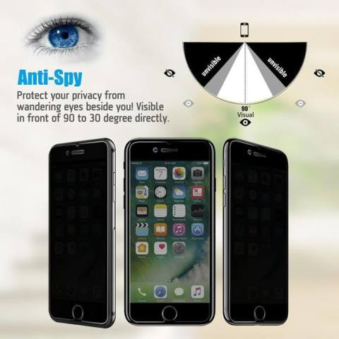 Accessories Hp ANTI SPY Tempered Glass Premium Screen Protector Privacy For Iphone 7 3