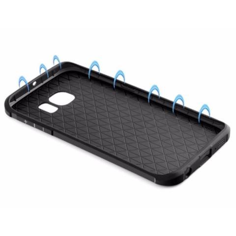 Accessories HP Dragon Shockproof Hybrid Case for Samsung Galaxy S6 EDGE - Hitam
