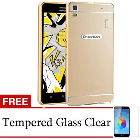 Harga Jual Accessories Hp Hunter Elegant Lenovo A7000 Plus Metal Bumper Backcase Gold Gratis Tempered Glas