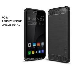 Accessories HP Premium Quality Carbon Shockproof Hybrid Case for ASUS Zenfone Live ZB501KL - Black