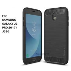 Accessories HP Premium Quality Carbon Shockproof Hybrid Case for Samsung Galaxy J3 Pro 2017 / J330 - Black
