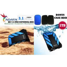 Adata External Hdd 2tb Usb 3.1 HD710 Pro Bukan Yang Biasa Antishock / Waterproof / Dustproof/ Ext Hardisk Adata 710 Pro / Hdd Ext - Biru + Gratis Case Hdd