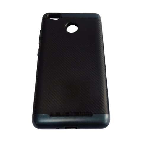 Aimi Case For Xiaomi Redmi 3S Hybrid Series Original Hardcase Backcase Soft Case Rubber Carbon +