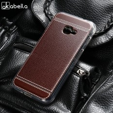 AKABEILA Soft TPU Phone Cover Case untuk Samsung Galaxy Xcover 4 Samsung Xcover 4 G390F SM-G390F 4.8 Inch Meliputi Litchi Phone Silicone Hood Perumahan Belakang-Intl