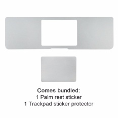 All-Inside 15 Inch Palm Rest Cover dengan Trackpad Protector Sticker Perak Kulit untuk MacBook 15 Inch (2016) A1707 (Perak)-Intl