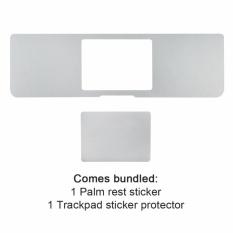 All-Inside 15 Inch Palm Rest Cover dengan Trackpad Protector Sticker Perak Kulit untuk MacBook Pro 15 Inch A1286 (Silver) -Intl