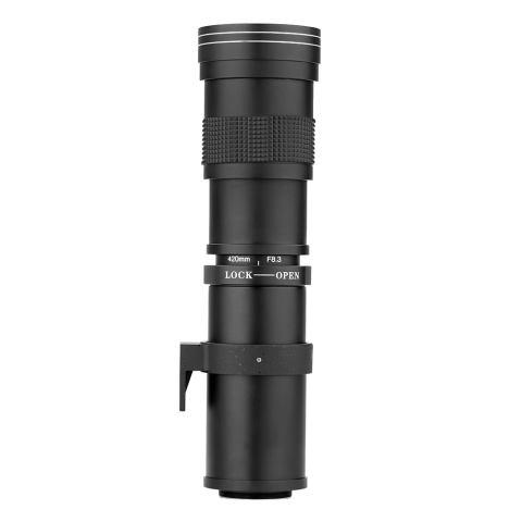 Andoer 420-800mm F/8.3-16 HD Super Telephoto Manual Zoom Lens dengan T-mount untuk Canon Nikon Minolta Sony Pentax Olympus DSLR Kamera-Internasional 5
