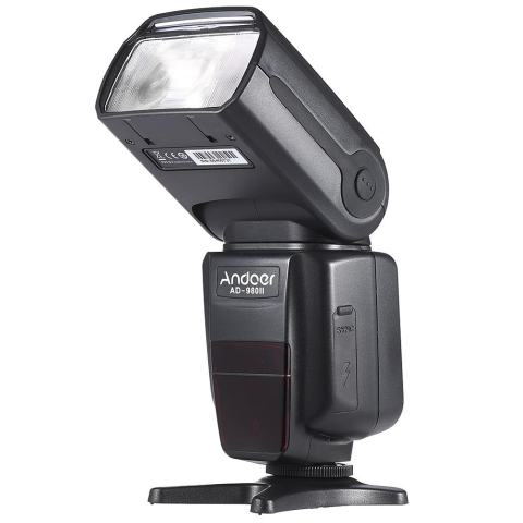 Andoer AD-980II E-TTL HSS 1/8000 S Master Slave GN58 Flash Speedlite untuk Canon 5D Mark III/5D Mark II/6D/5D/7D/60D/50D/40D/30D/700D/100D/ 650D/600D/550D/500D/450D DSLR Kamera-Internasional 1