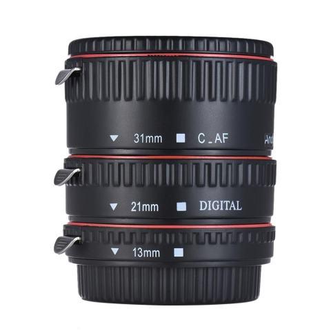 Andoer Tabung Ekstensi Makro Set 3-Piece 13 Mm 21 Mm 31 Mm Auto Fokus Ekstensi Cincin Tabung untuk Kamera tubuh dan Lensa 35 Mm SLR Kompatibel untuk Canon Semua EF dan EF-S Lensa-Intl 3