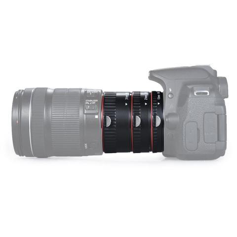 Andoer Macro Extension Tube Set 3-Piece 13mm 21mm 31mm Auto Focus Extension Tube Cincin untuk Bodi Kamera dan Lensa 35mm SLR Kompatibel untuk Canon Semua EF dan EF-S Lensa-Intl 2