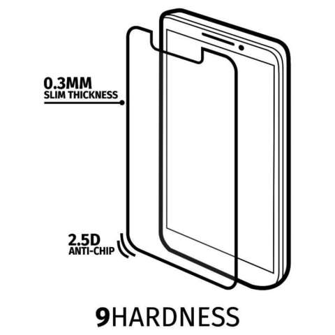 Anti Gores Kaca for Huawei P8 Lite - Premium Tempered Glass - Round Edge 2.5D