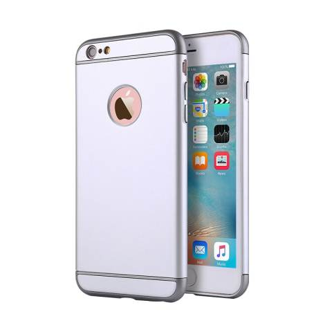 Anti-gores Shockproof Hard PC Case Cover untuk Apple IPhone 6/6 S (