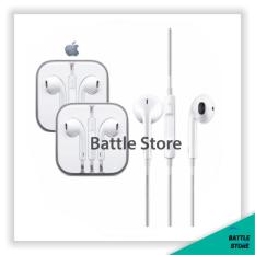 Apple earphones headphones Iphone with microphone For All Type Jack A/V 3.5mm - Putih