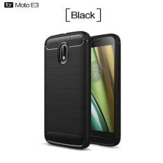 Armor Rugged Motorola Moto E3 Power Slim TPU Soft Case Carbon Design