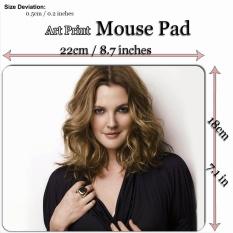 Art Print Mouse Pad Mat (22*18 Cm) untuk Selebriti C218 Drew Barrymore-Intl