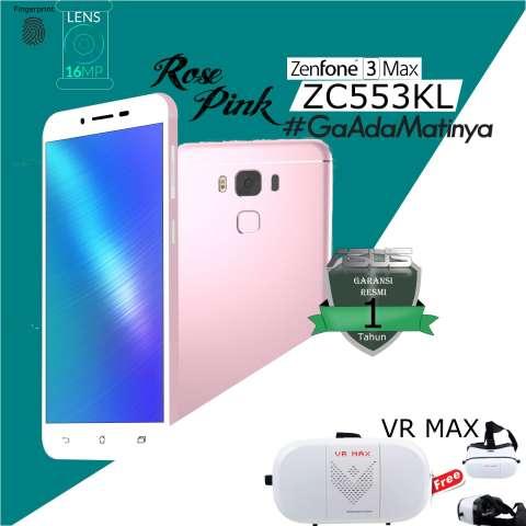 Asus Zenfone 3 Max ZC553KL, 3/32GB, 4G LTE, garansi resmi free VR MAX 1