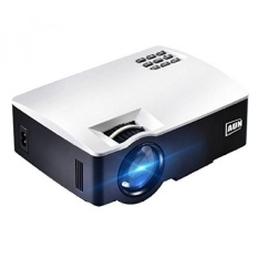 AUN Proyektor. 1800 Lumens Portable LCD Video Proyektor untuk Home Theater. HDMI VGA USB AV. Dukungan Full HD 1080 P (Putih) XJj3209-Intl