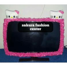 Bando / Cover / Sarung / Bandana / List TV Karakter Hello Kitty LCD LED 21