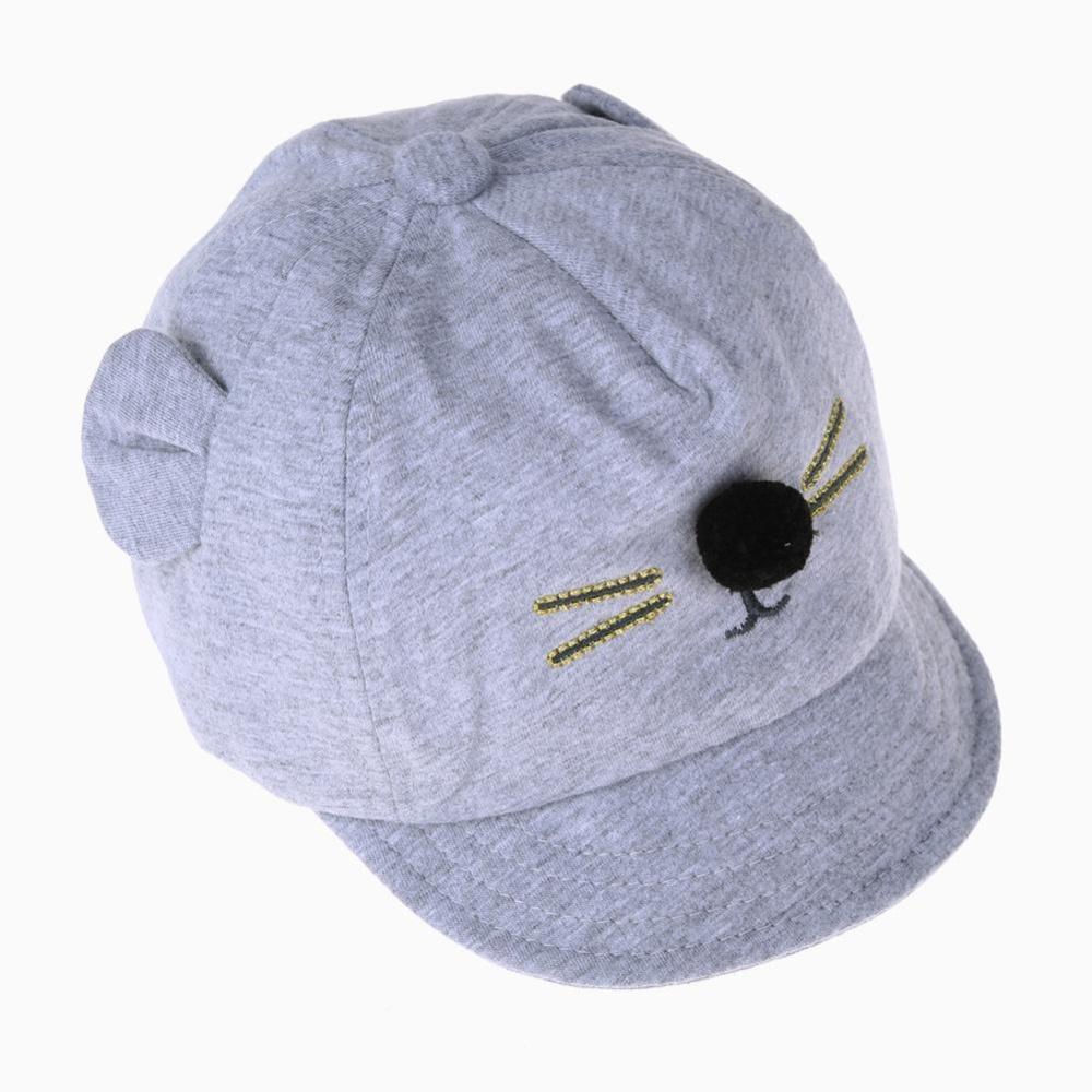 DomybestShop Topi Bayi Baru Kartun Kucing Desain Anak-anak Topi Baseball Laki-laki Perempuan