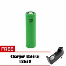 Baterai Rokok Elektrik Sony 2600mAh Mods Vape Vapor Tipe 18650 2600mAh Hijau - Free Charger Baterai