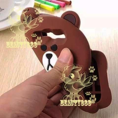 Beauty Bear Case 3D Samsung Galaxy J2 Prime Silicone 3D Brown Bear Clothes  Overall Design FASHION a3d83dfe5e