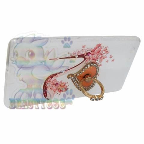 Beauty Case For Oppo A33 Softshell Swarovski Animasi Fashion High Heels + Holder Ring Love Soft