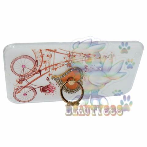 Home; Beauty Case For Oppo A39 Softshell Swarovski Animasi Vintage Bicycle Love + Holder Ring