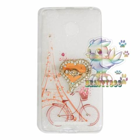 Beauty Case Xiaomi Redmi 3X Softshell Animasi Vintage Bicycle Love + Holder Ring Love Soft Case