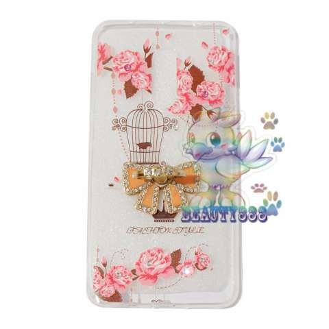 Beauty Case For Xiaomi Redmi Note 4 Softshell Animasi Vintage Bird + Holder Ring Tape Soft