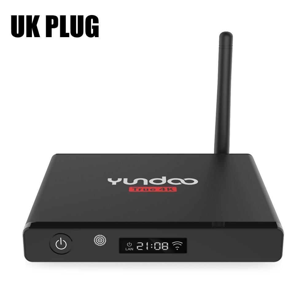 BLACK UK PLUG YUNDOO Y7 Android 6.0 TV Box 64bit dengan KODI 16.1 4 K X 2 K Amlogic S905X Quad Core LED Display-Intl