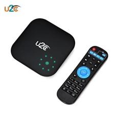 BLACK US PLUG + 2GB RAM + 16GB ROM U2C V Plus TV Box Android 7.1 Support 4K 2.4 / 5.8GHz