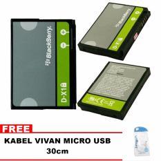 Blackberry Baterai D-X1 For Blackberry 8900,9500,9530,9550,9630,9650 Bonus Kabel Vivan Micro Usb 30cm