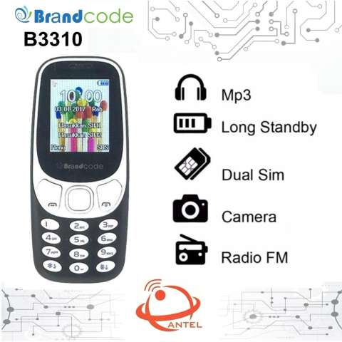 Brandcode B3310 - Dual Sim - FM Radio - Camera