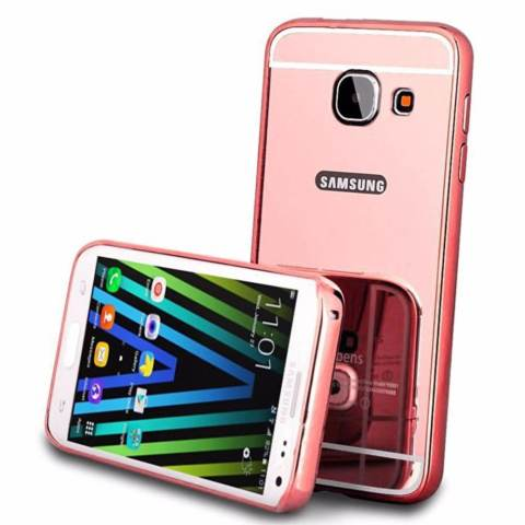 Bumper Mirror Sliding Case Samsung Galaxy A3 2017/A310 – Rose Gold