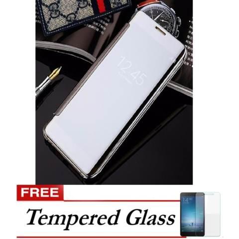 ... Bumper Samsung A5 A510 2016 Flipcase Flip Mirror Cover S View Transparan Auto Lock Casing Hp