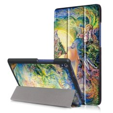 BYT Colorful Printing Tablet Leather 3 Folio Flip Cover Case for Lenovo Tab3 8 Plus / P8 (TB-8703F/X)