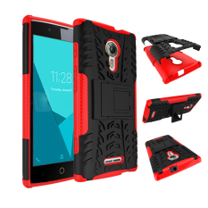BYT Kasar Dazzle Case untuk Alcatel One Touch Flash 2 dengan Kickstand (merah)
