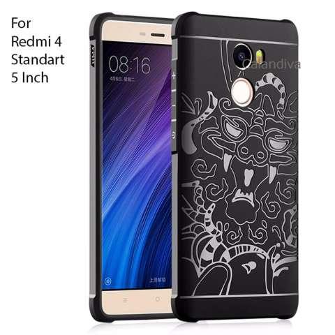 Beli Calandiva Dragon Shockproof Hybrid Case For Xiaomi Redmi 4 Standard Flash Kanan Hitam Harga Rp