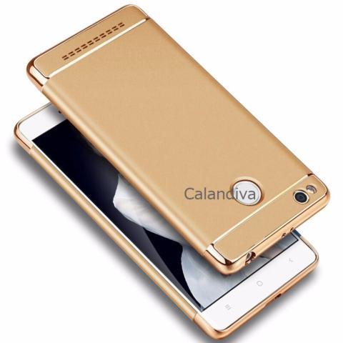 Calandiva Premium Quality Elegance Protection Hardcase for Xiaomi Redmi 3 pro / 3s - Gold +