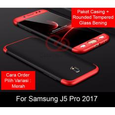 Calandiva Premium Front Back 360 Degree Full Protection Case Quality Grade A for Samsung Galaxy J5 PRO 2017 ( J530 ) + Tempered Glass 2.5D Bening