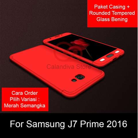 Calandiva Premium Front Back 360 Degree Full Protection Case Quality Grade A for Samsung Galaxy J7