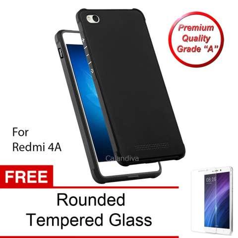 Calandiva Shockproof Hybrid Premium Grade A Softcase for Xiaomi Redmi 4A / Redmi 4A Prime -