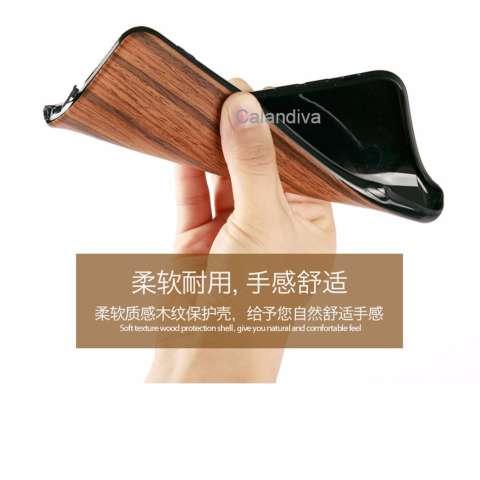 Calandiva Wood Texture TPU Full Protection Slim Softcase for Xiaomi Redmi Note 4 Mediatek , Redmi