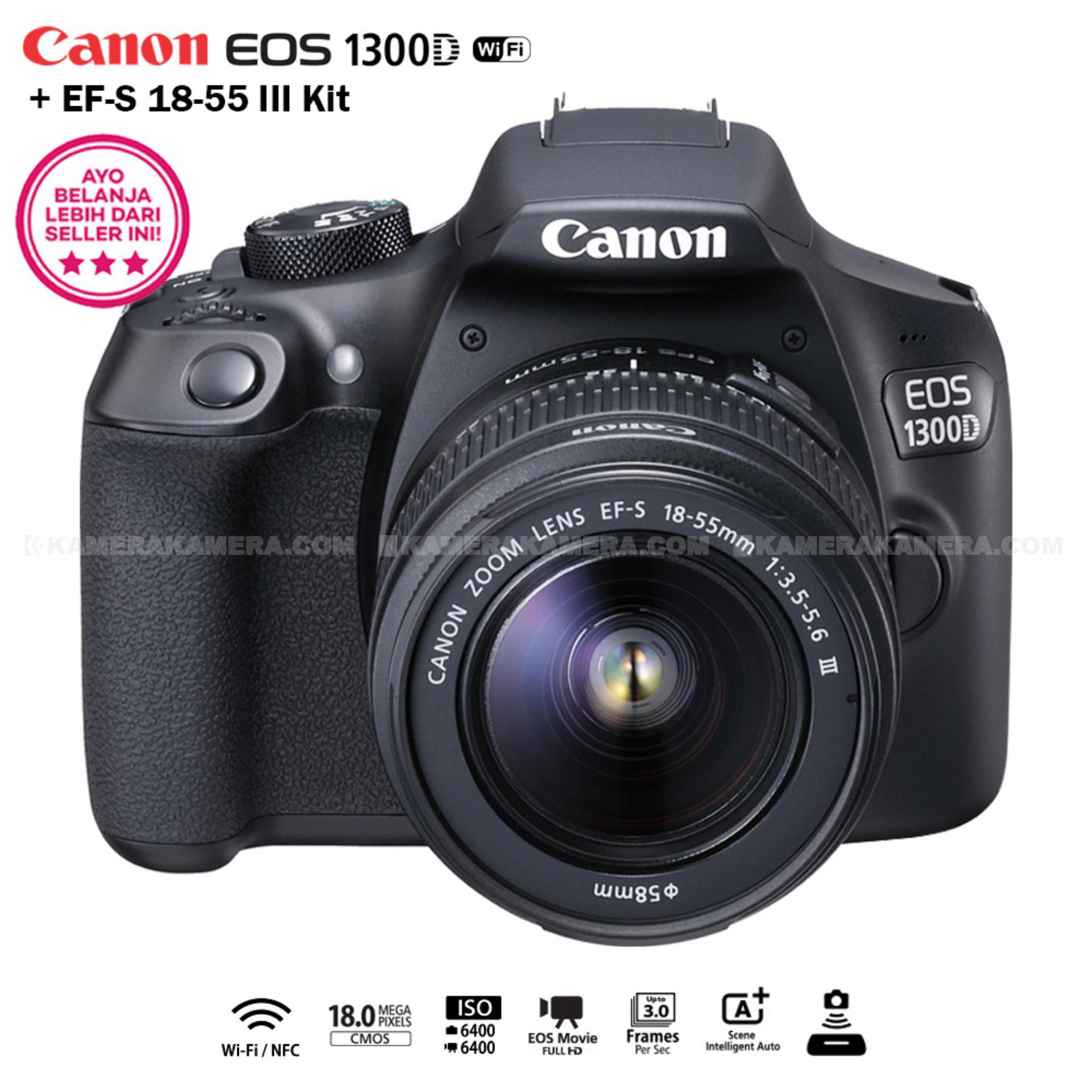 Kamera digital canon terbaik lazada canon eos 1300d 18mp wi finfc ef s 18 thecheapjerseys Choice Image