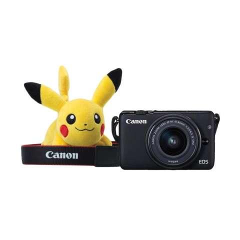 CANON EOS M10 BLACK + EF-M15-45 IS STM Kit Wifi 18MP CMOS Touchscreen Lcd Full Hd (Datascrip) Free Pokemon Pikachu Shoulder Plush + Screen Guard + SanDisk 16gb + Filter 49mm + Camera Bag + Takara ECO-193A 3