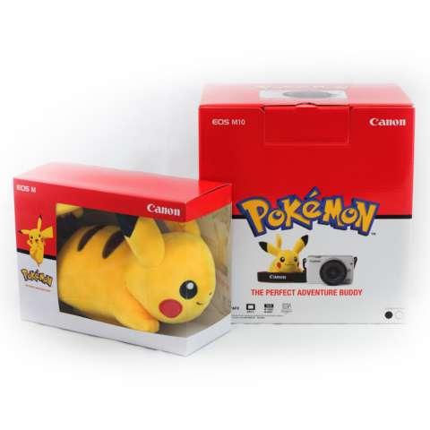 CANON EOS M10 BLACK + EF-M15-45 IS STM Kit Wifi 18MP CMOS Touchscreen Lcd Full Hd (Datascrip) Free Pokemon Pikachu Shoulder Plush + Screen Guard + SanDisk 16gb + Filter 49mm + Camera Bag + Takara ECO-193A 2