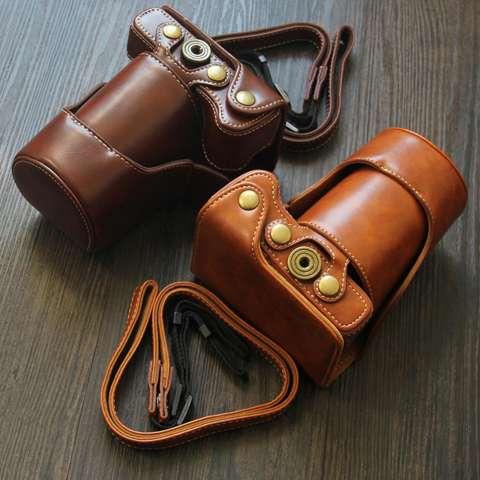 Canon EOS M10 / M100 Leather Bag / Case / Tas Kulit Kamera Mirrorless 15-45 MM / 18-55 MM - Coklat Tua 5