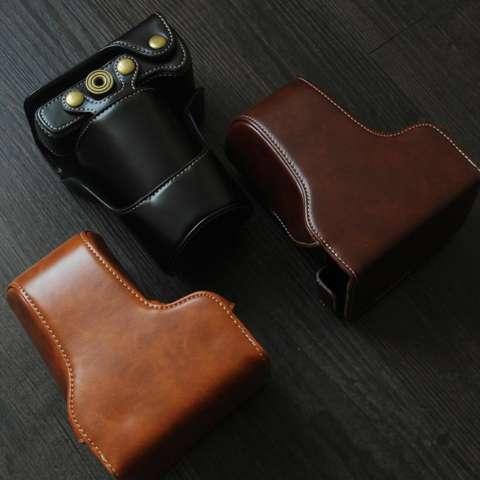 Canon EOS M10 / M100 Leather Bag / Case / Tas Kulit Kamera Mirrorless 15-45 MM / 18-55 MM - Coklat Tua 7